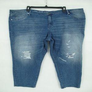 Skinny Jegging Cropped Plus Size 26W